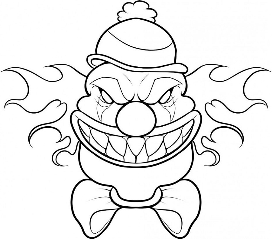 Scary Clown Coloring Pages To Print