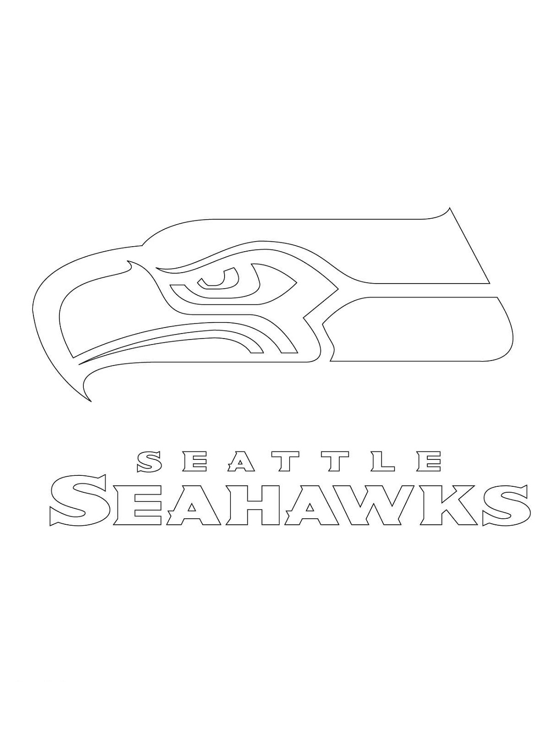 Seahawks Coloring Pages Logo