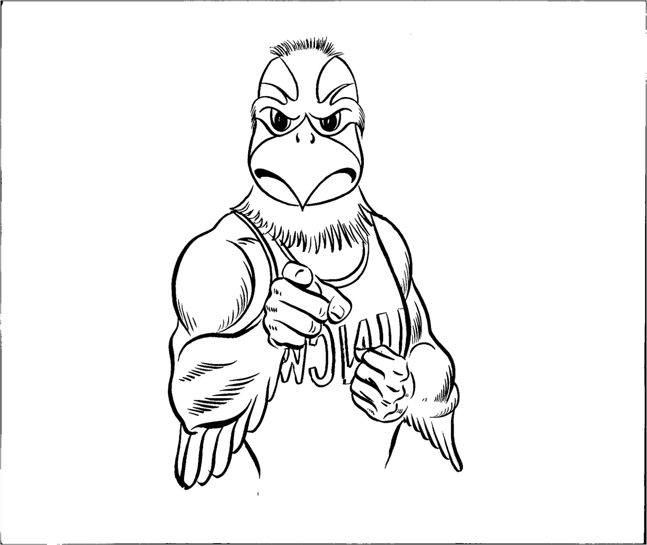 Seahawks Coloring Pages Mascot