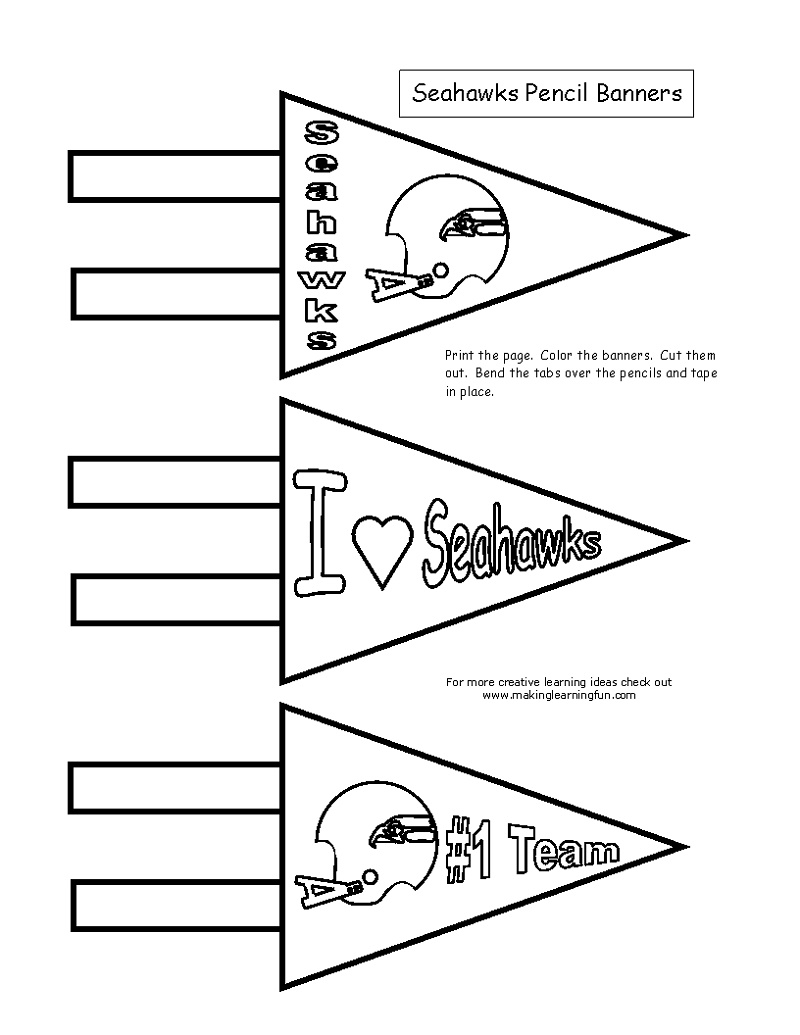 Seattle Seahawks Coloring Pages Banner
