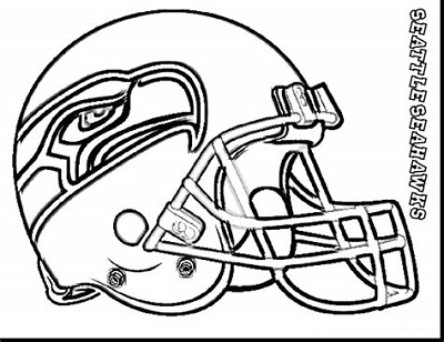 Seattle Seahawks Coloring Pages Helmet