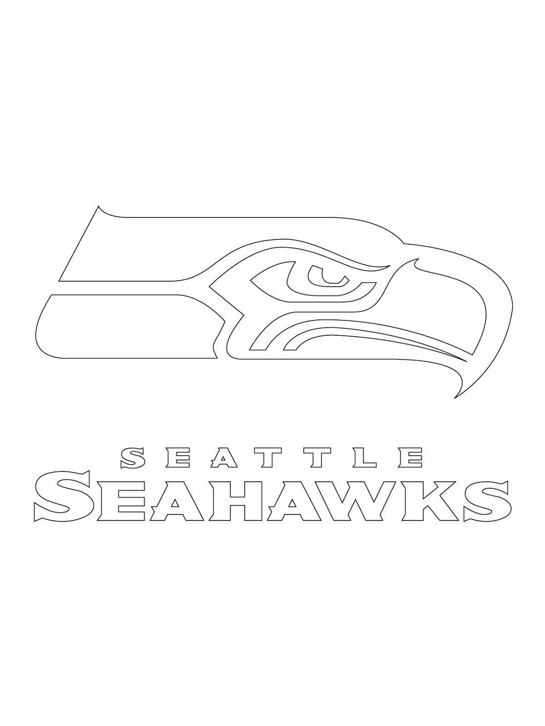 Seattle Seahawks Coloring Pages Logo