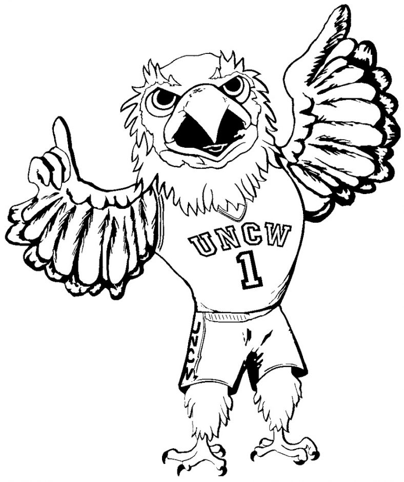 Seattle Seahawks Coloring Pages Mascot