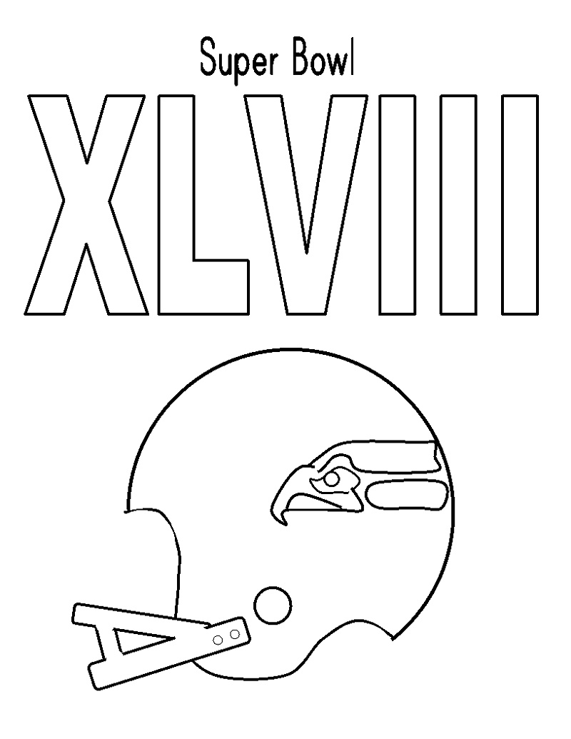 Seattle Seahawks Coloring Pages Superbowl