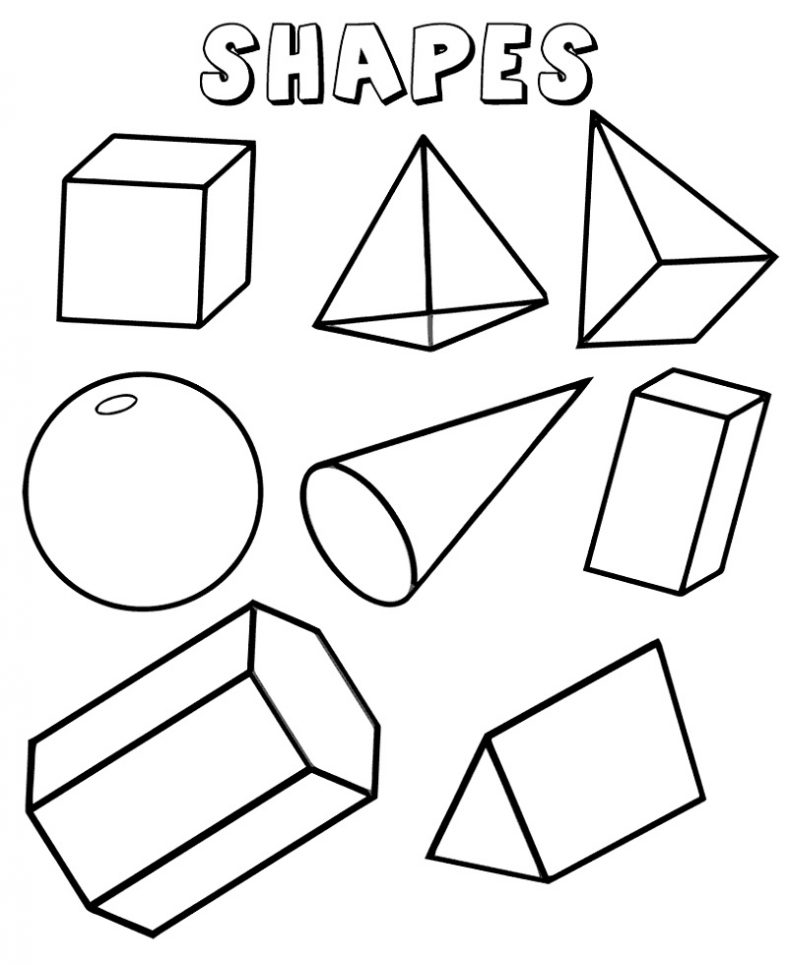 Shapes Coloring Pages Geometric