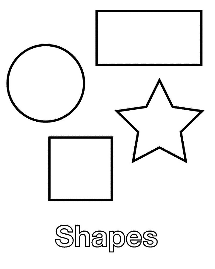 Shapes Coloring Pages Worksheet