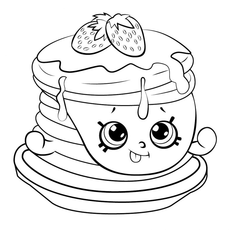 Shopkins Coloring Pages Breakfast