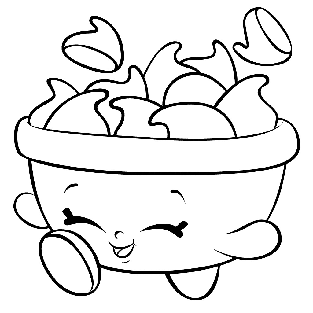 Shopkins Coloring Pages Choc Chips