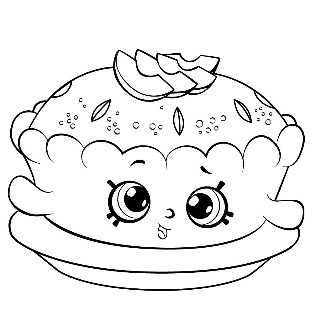 Shopkins Coloring Pages Pancake