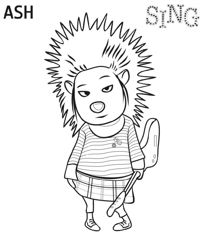 Sing Movie Coloring Page Ash