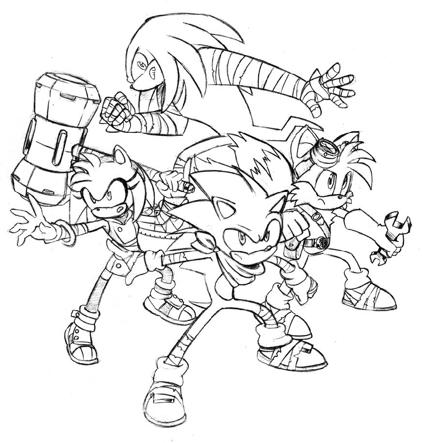 Sonic Boom Coloring Pages Characters