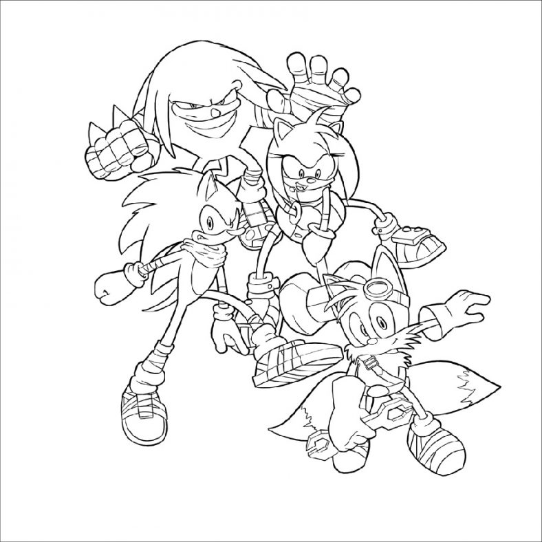 Sonic Boom Coloring Pages Free