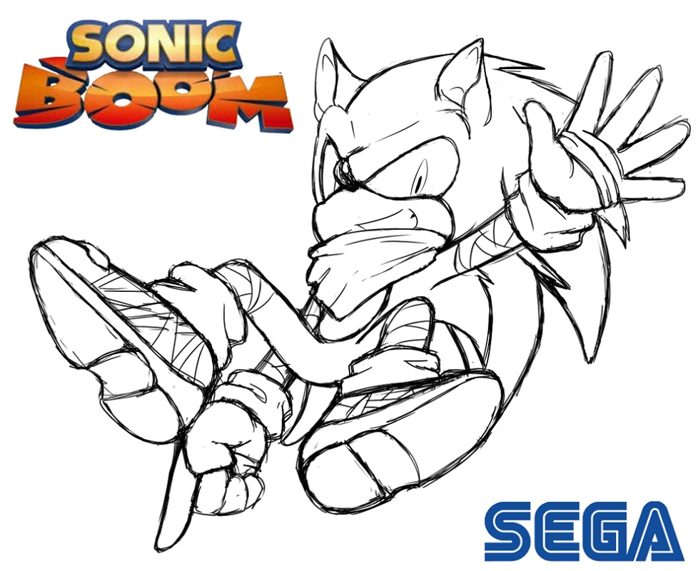 Sonic Boom Coloring Pages Sonic