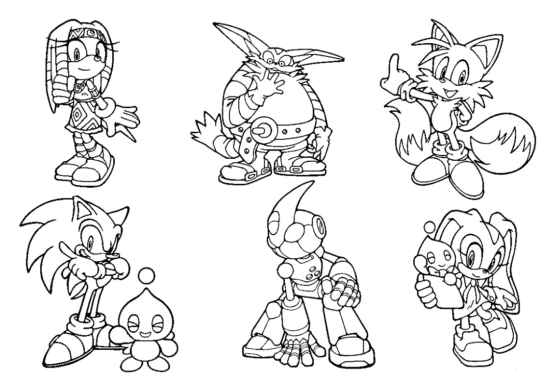 Sonic Coloring Book Characters