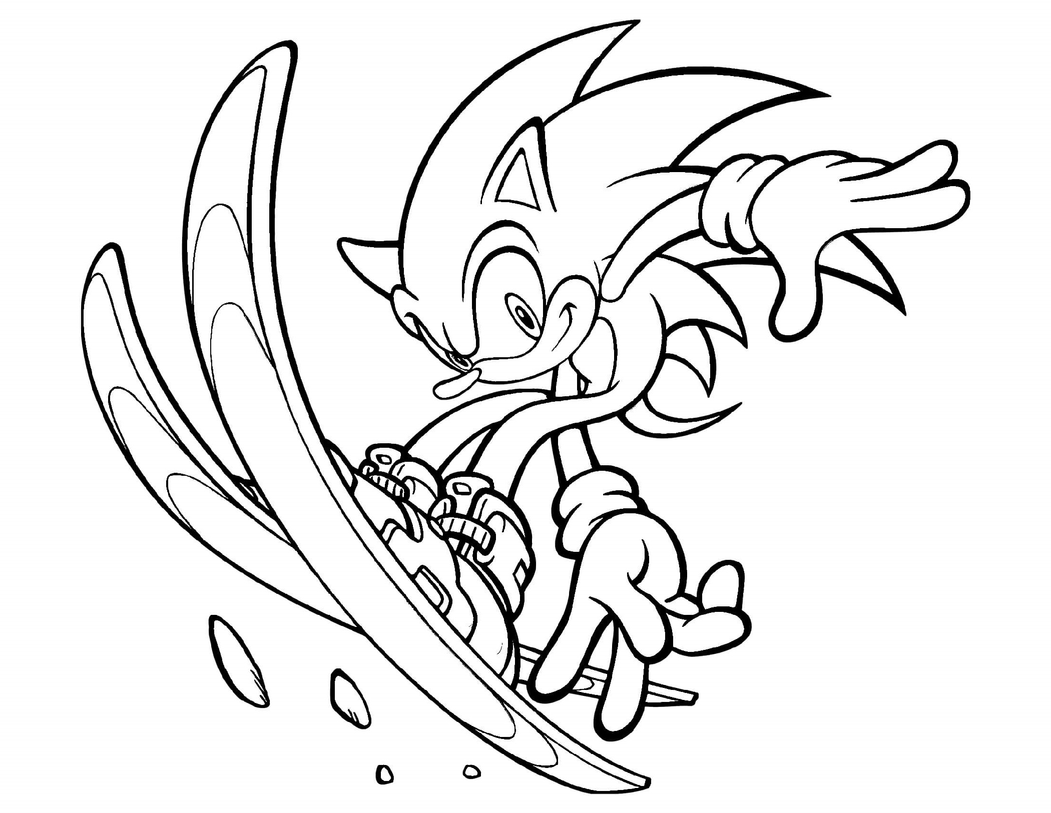 Sonic Coloring Book Free