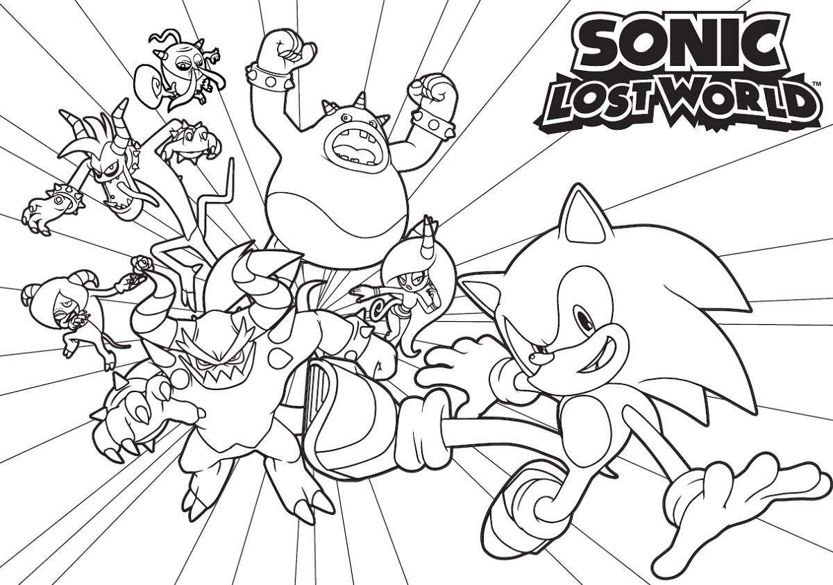 Sonic Coloring Book Lost World