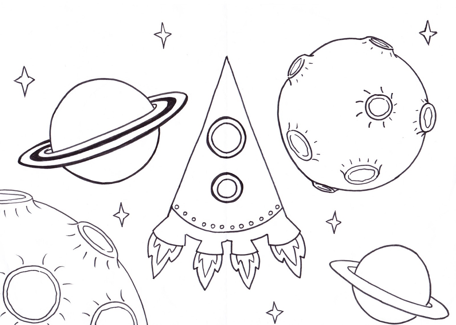 Space Coloring Pages Free