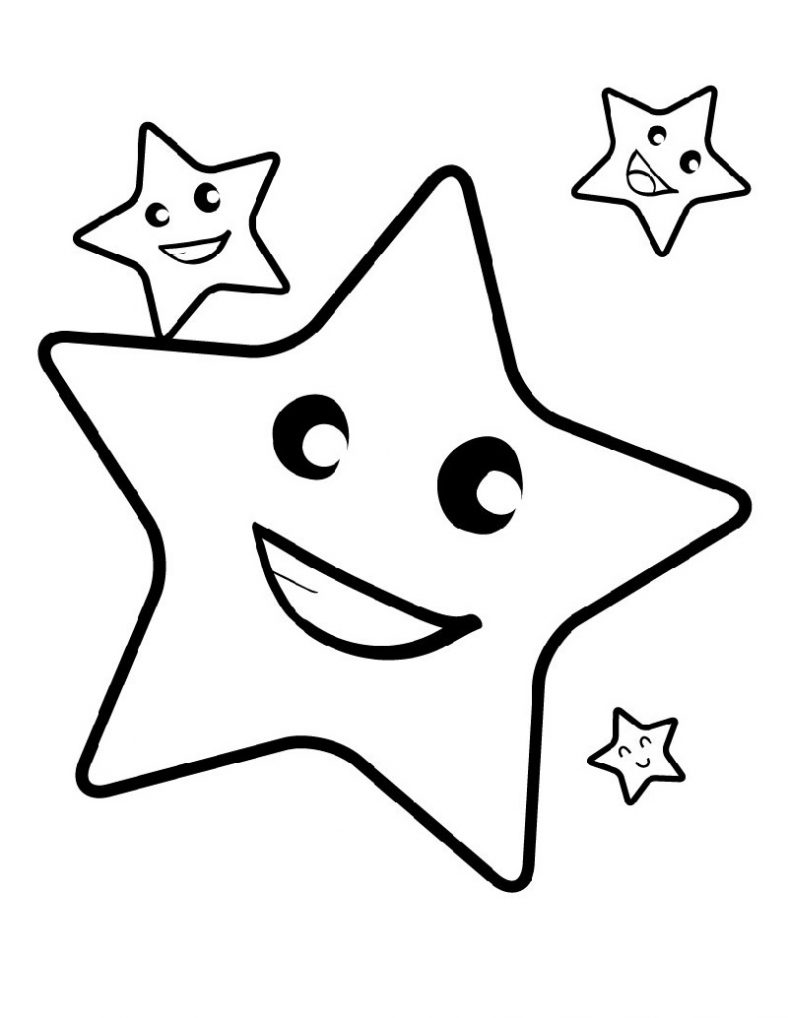Star Coloring Pages Cute