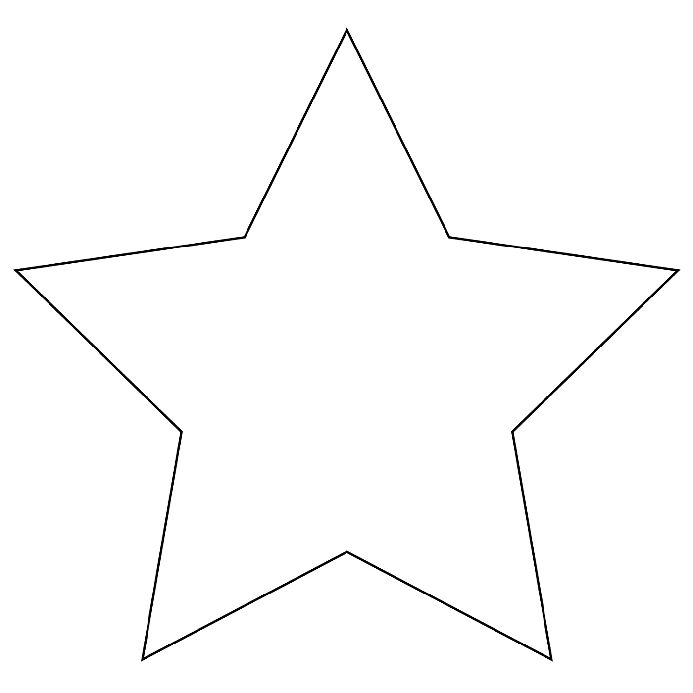 Star Coloring Pages Shapes