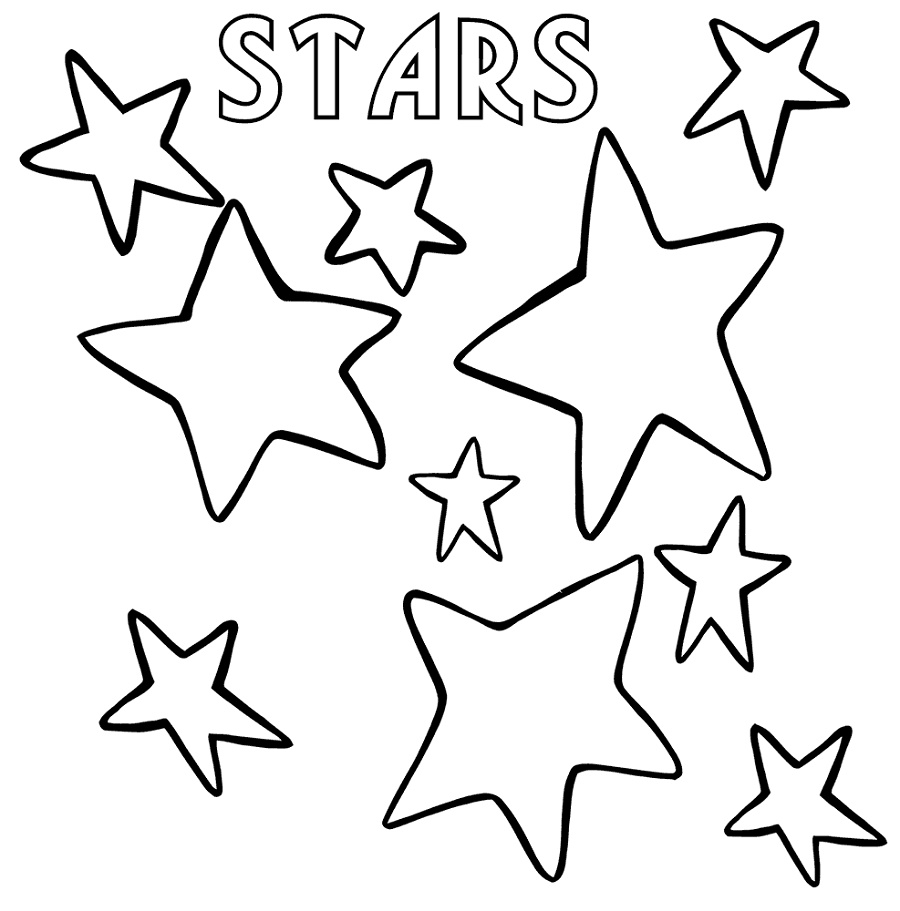 Star Coloring To Print
