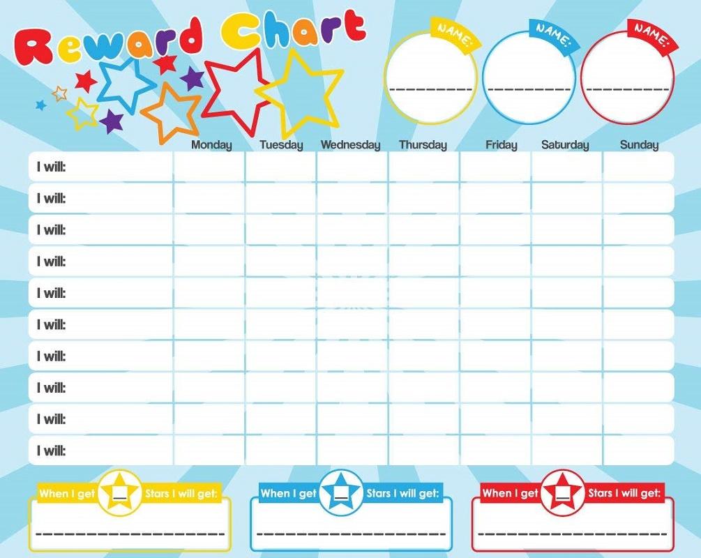 Star Reward Chart Template