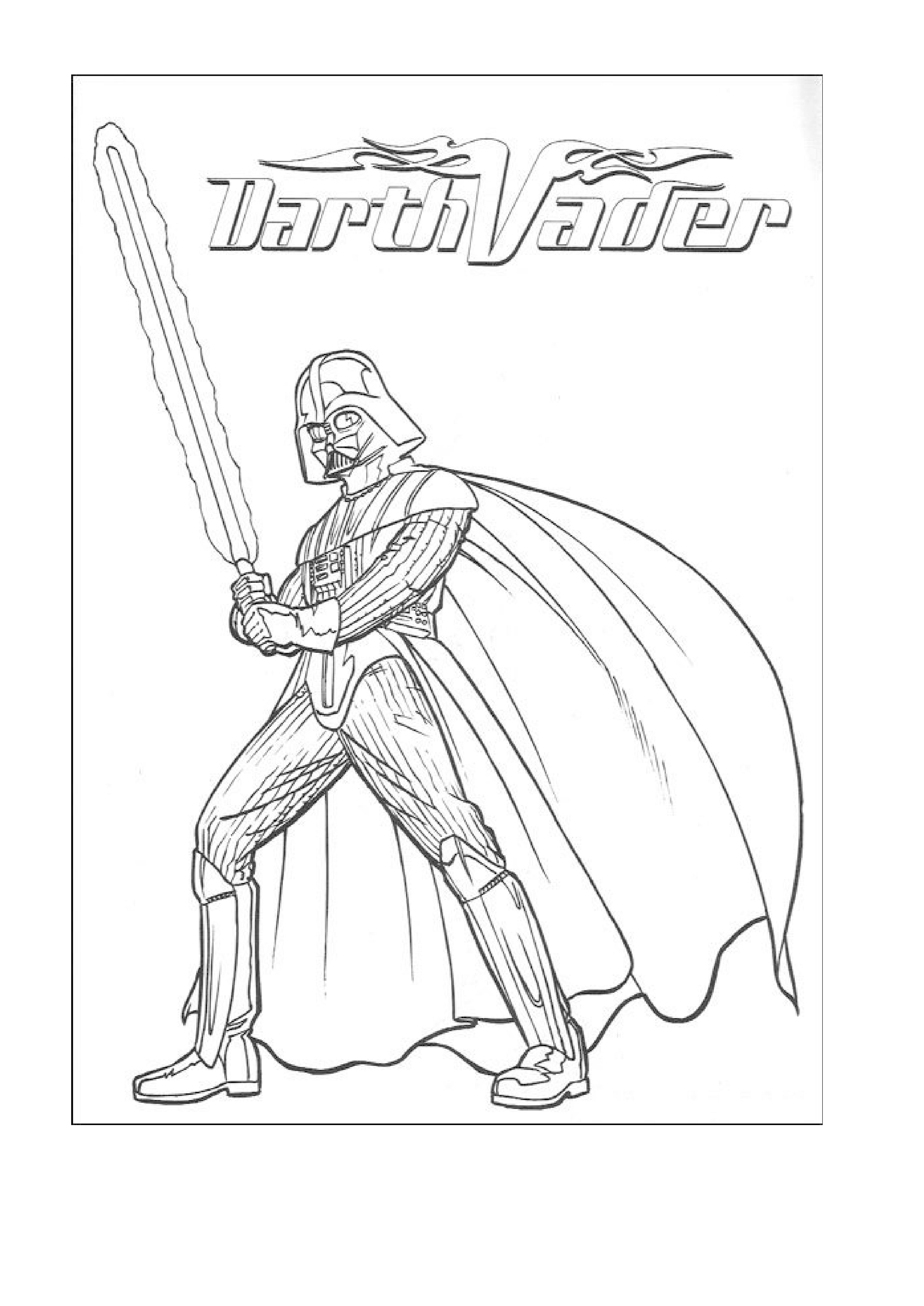 Star Wars Coloring Darth Vader