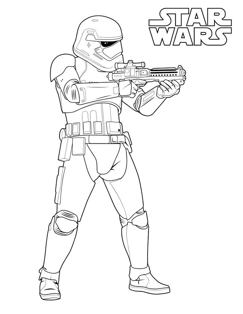 Star Wars Coloring Storm Trooper