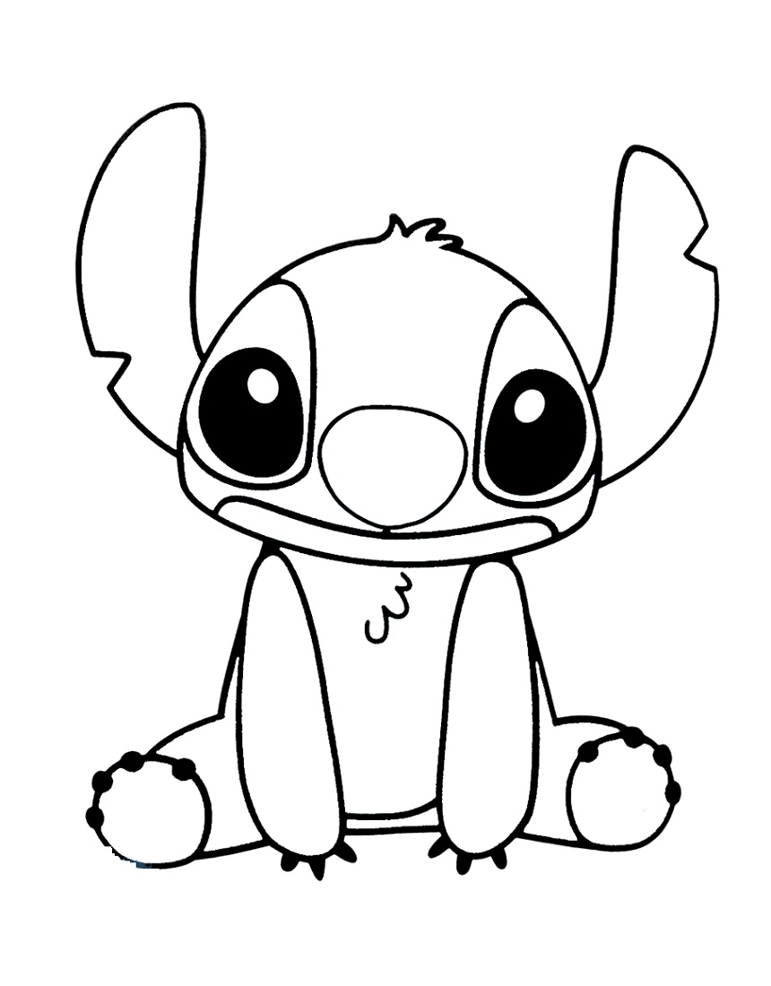 Stitch Coloring Pages For Kids