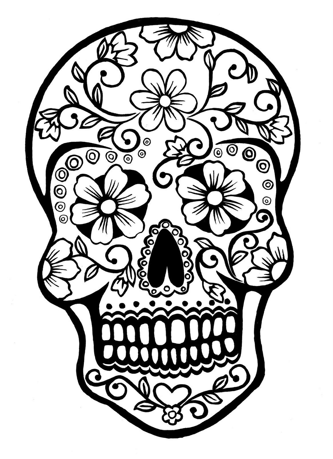 Sugar Skull Coloring Free