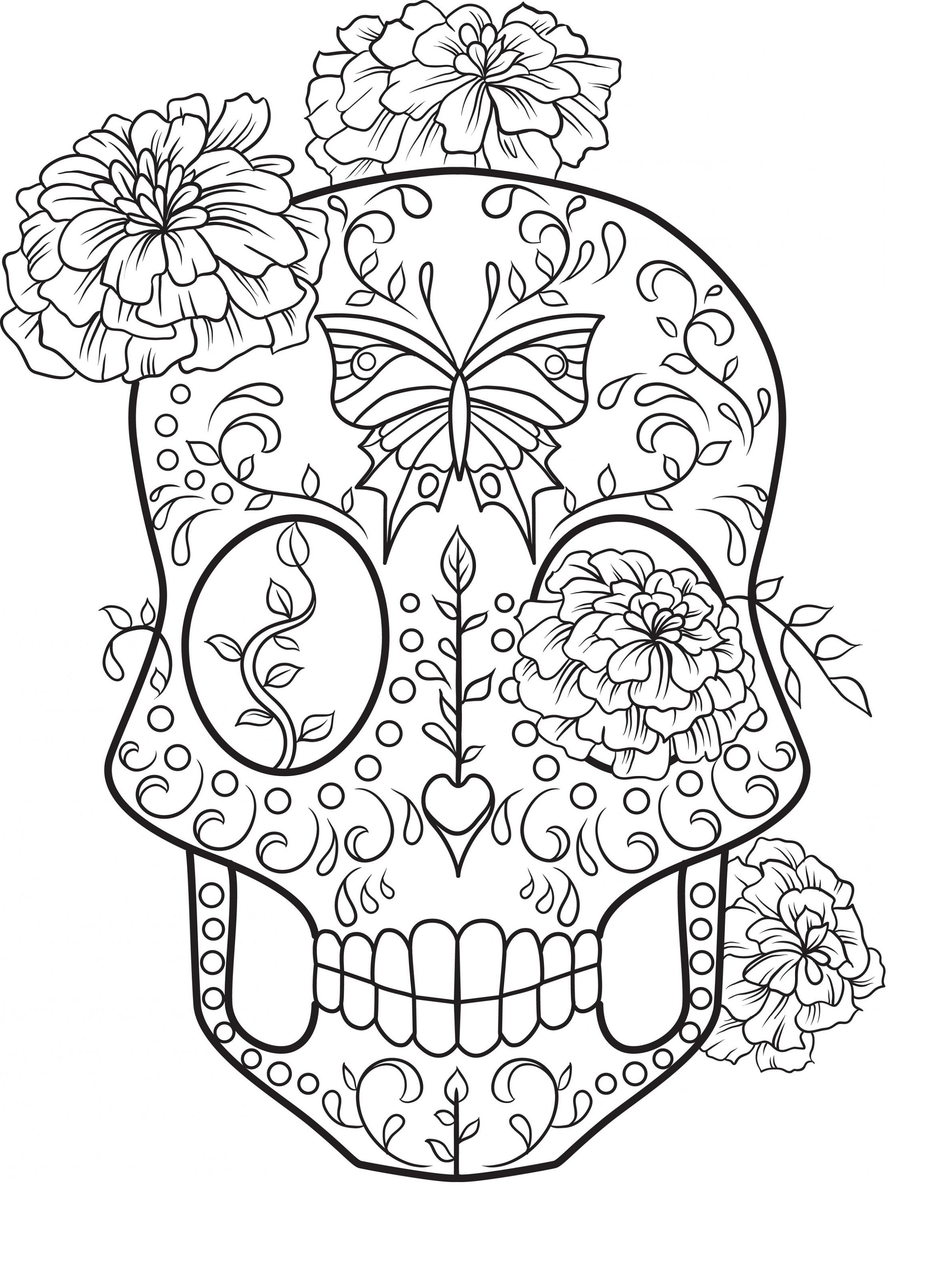 Sugar Skull Coloring Printable