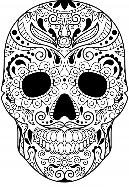 Sugar Skull Coloring To Print