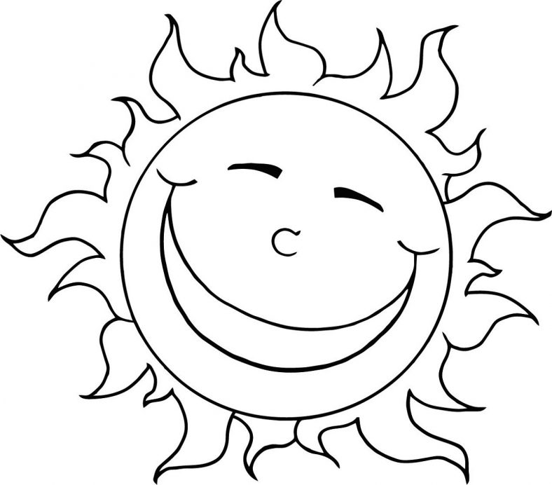 Sun Coloring Page For Kids