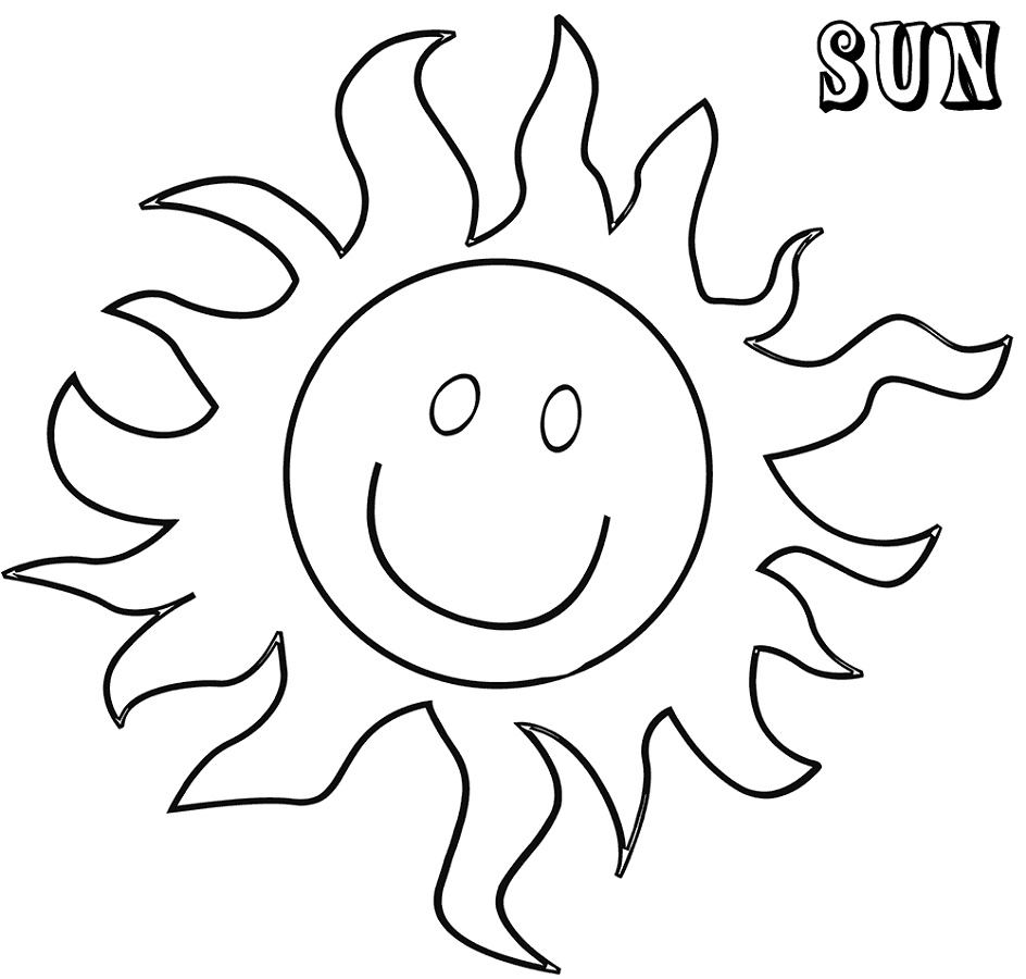 Sun Coloring Page Free