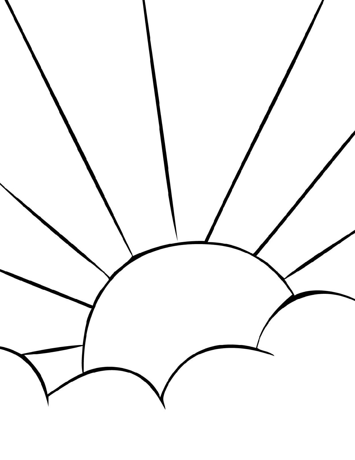 Sun Coloring Page Printable