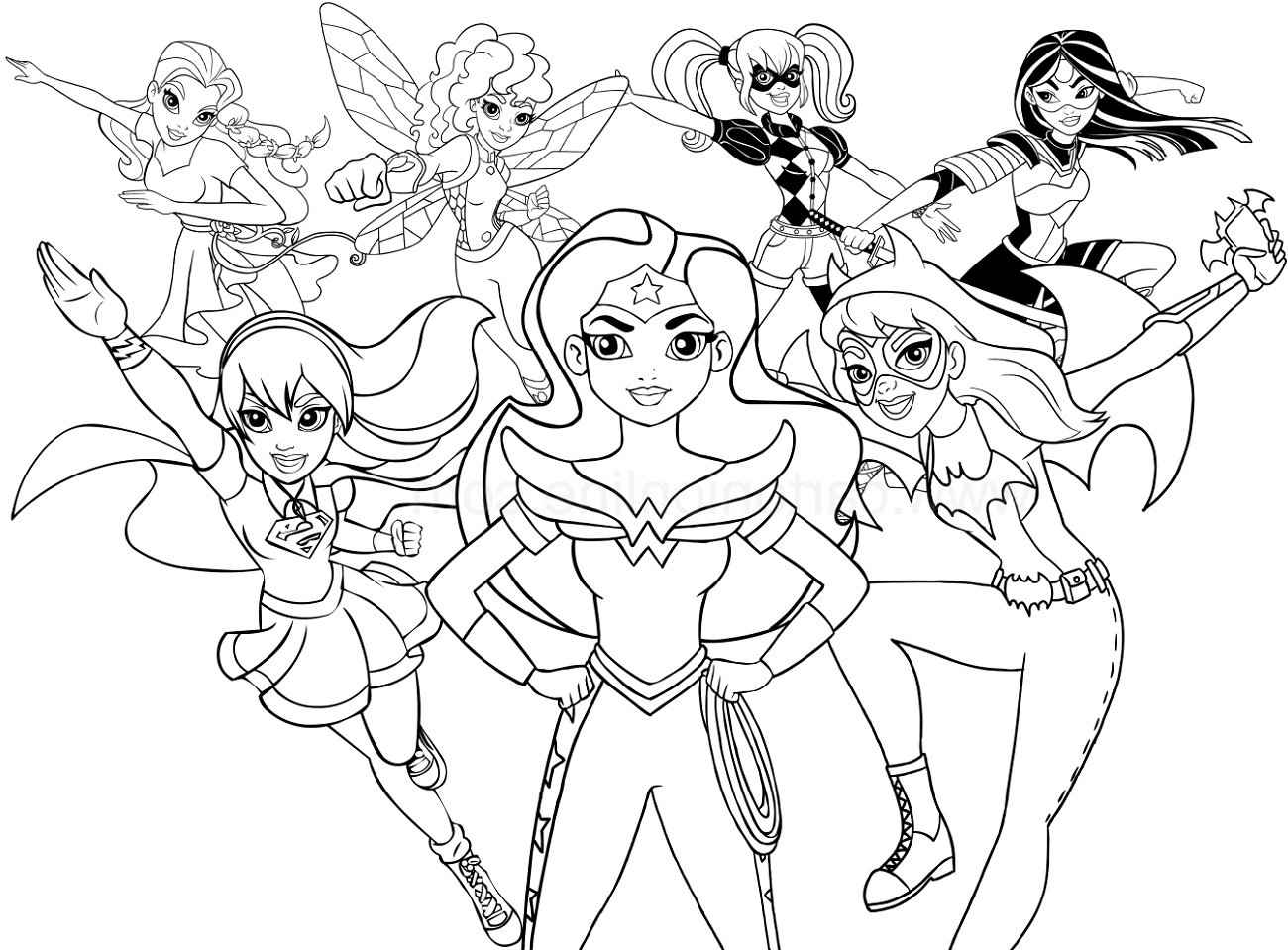 Superhero Coloring Girls
