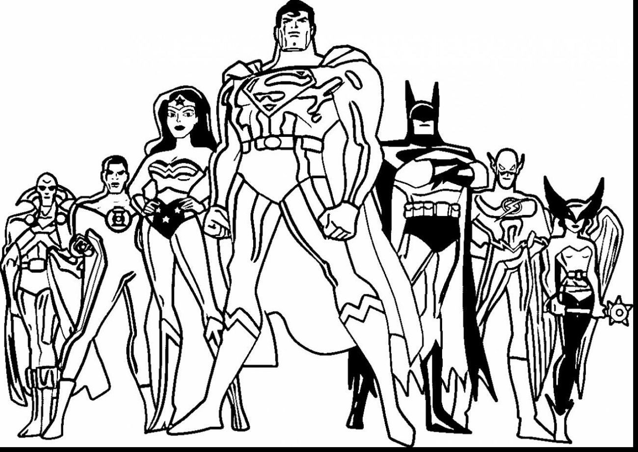 Superhero Coloring Justice League