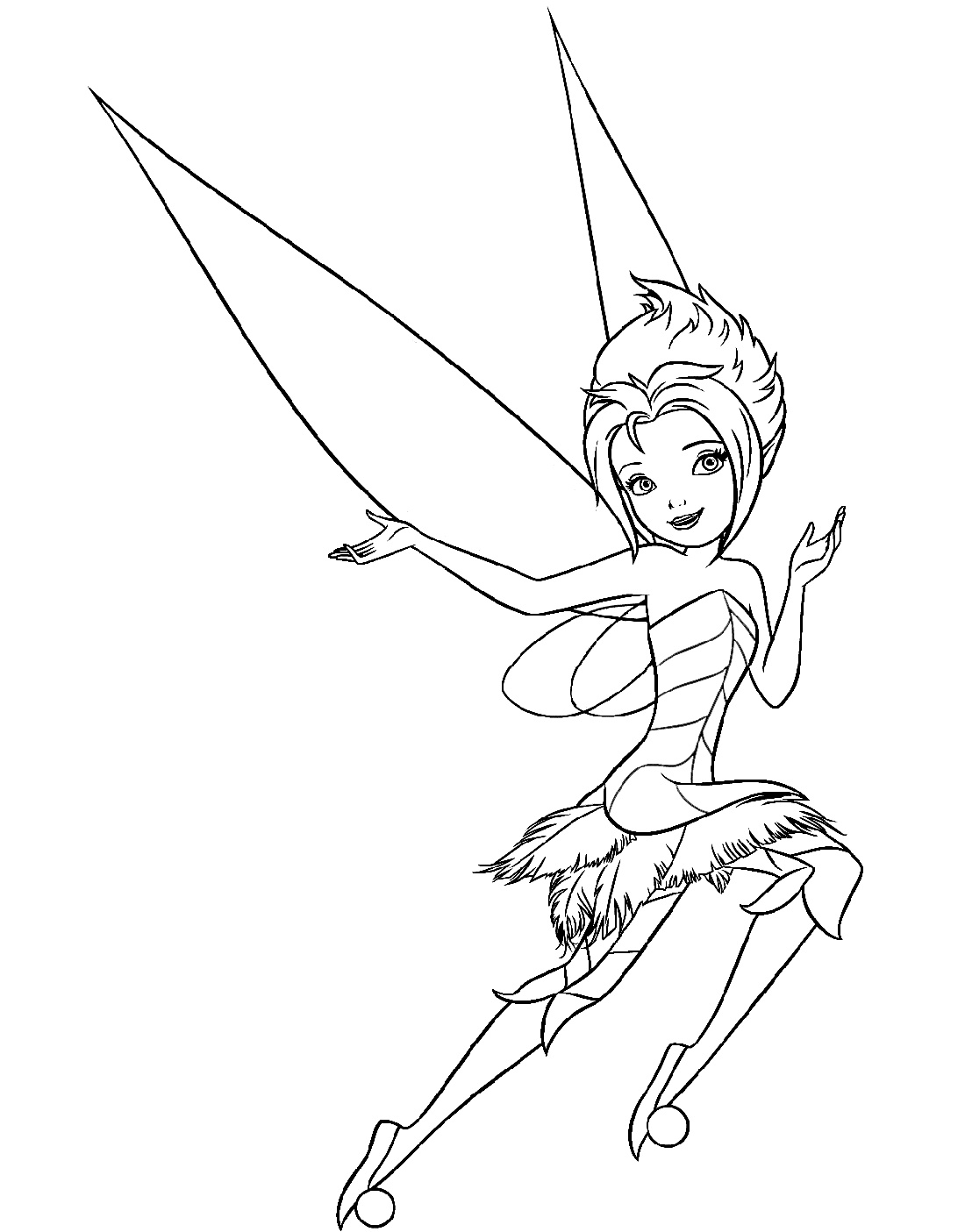 Tinkerbell Coloring Pages Periwinkle
