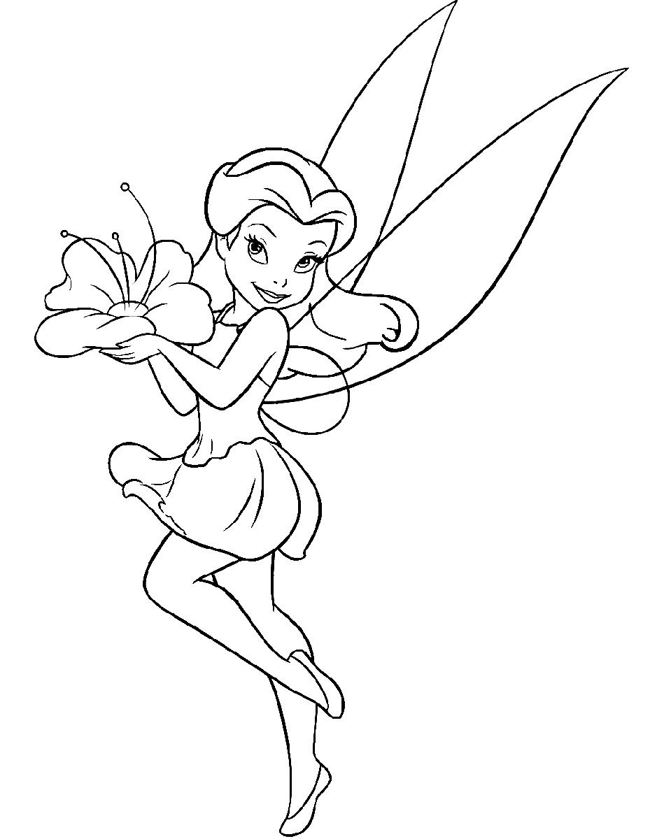 Tinkerbell Coloring Pages Rosetta
