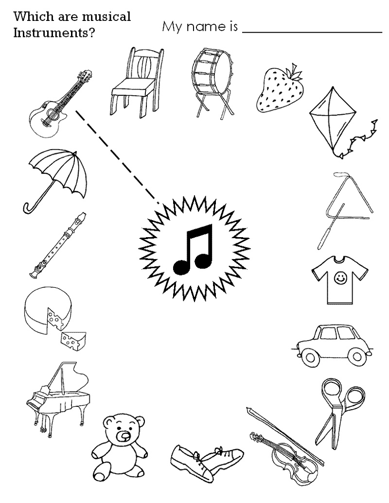 Toddler Activity Sheets Music