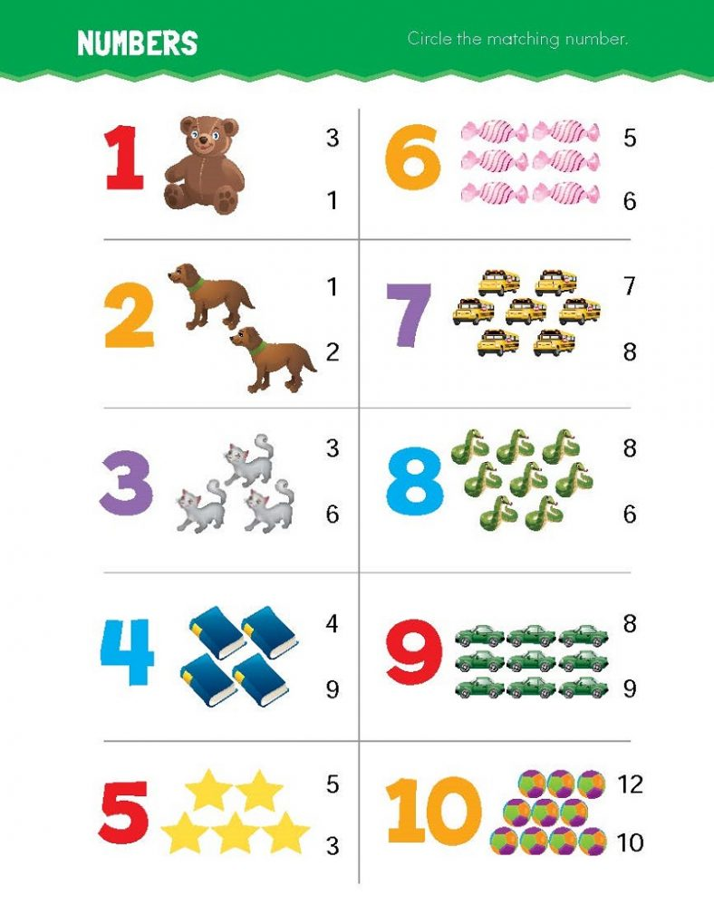 Toddler Printables Math