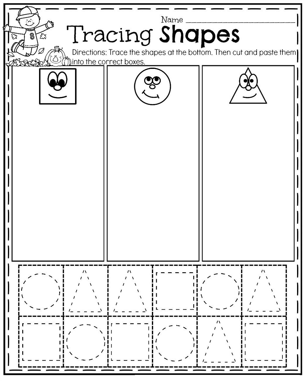 Toddler Printables Shapes