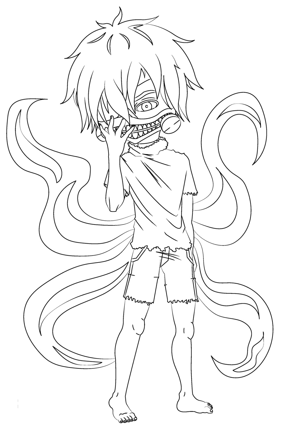 Tokyo Ghoul Coloring Pages Chibi