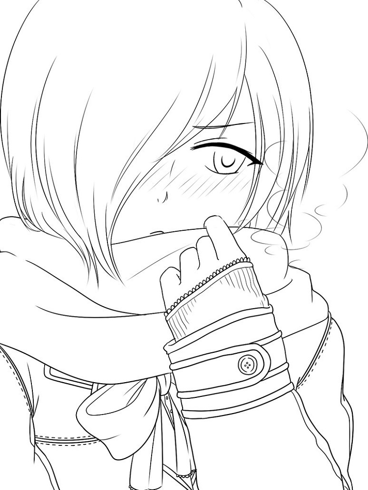 Tokyo Ghoul Coloring Pages Touka