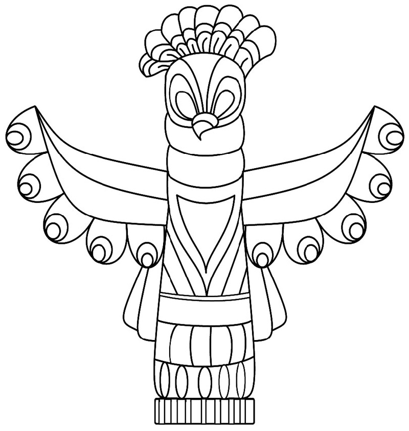 Totem Pole Coloring Pages Animal