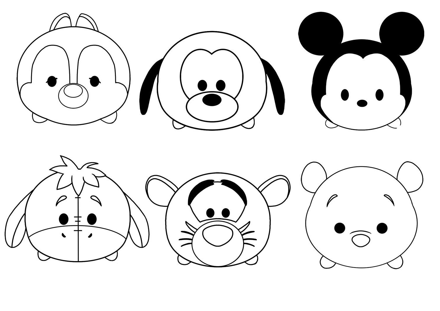 Tsum Tsum Coloring Pages Characters