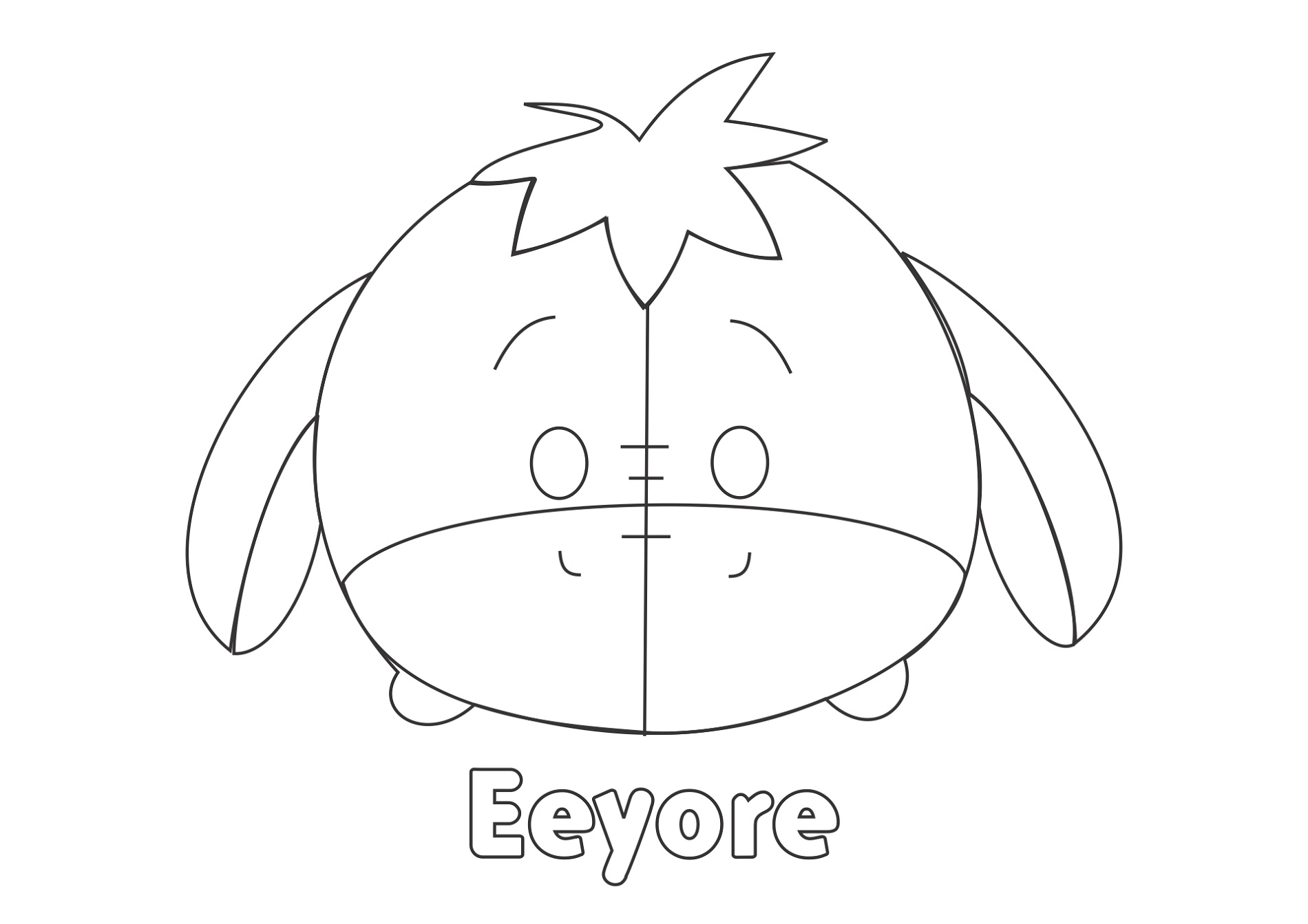 Tsum Tsum Coloring Pages Eeyore