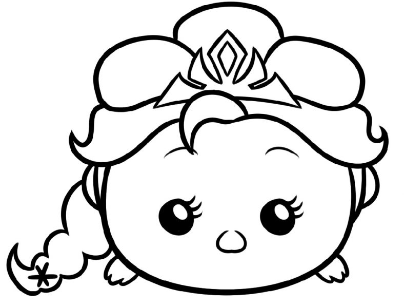 Tsum Tsum Coloring Pages Free
