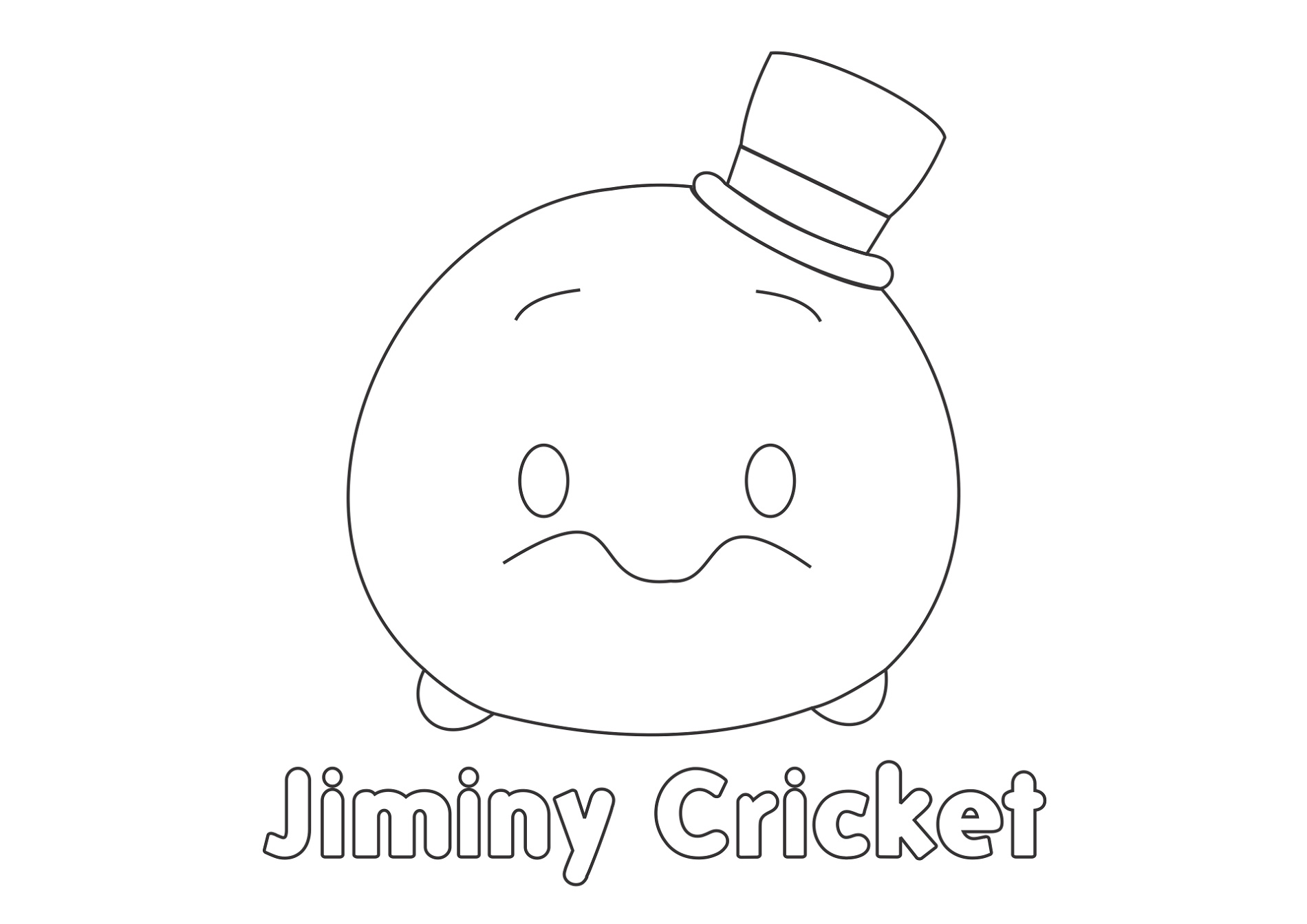 Tsum Tsum Coloring Pages Jiminy