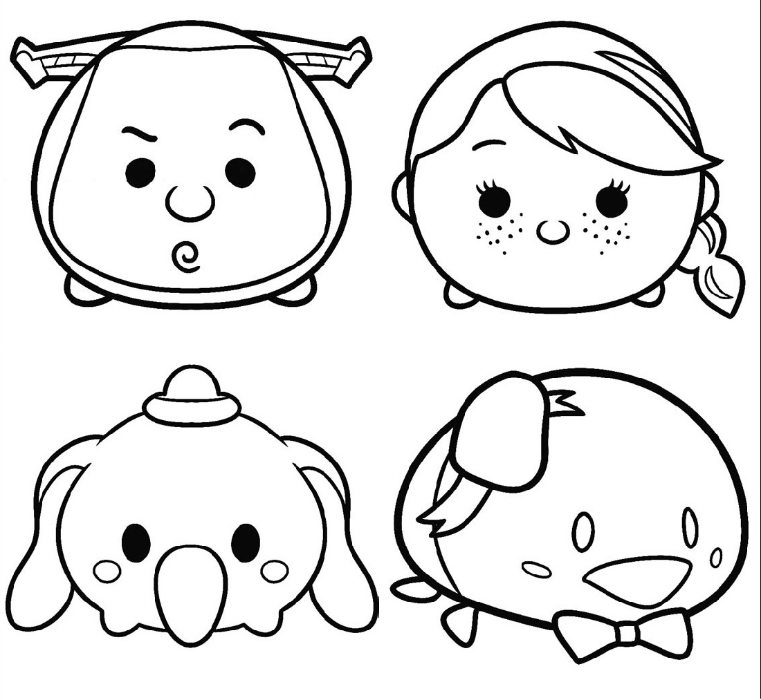 Tsum Tsum Coloring Pages Printable