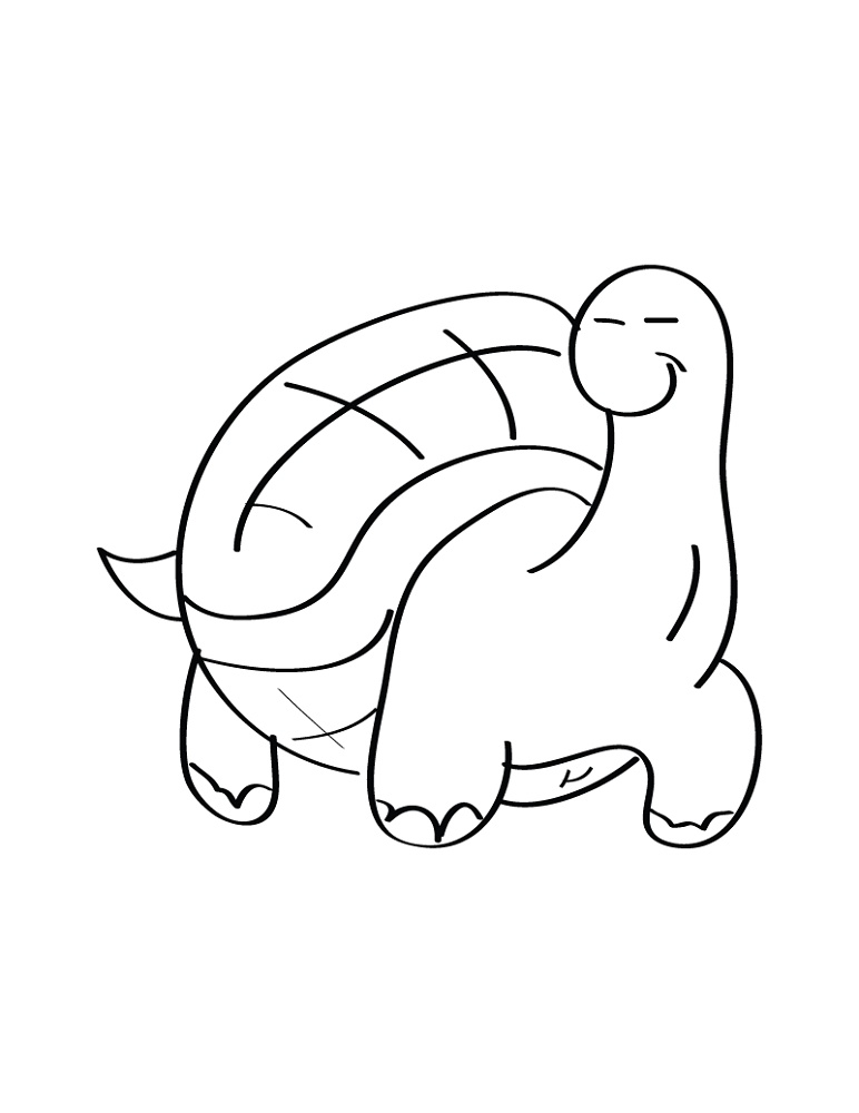 Turtle Coloring Pages Cute